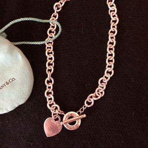 Tiffany Heart Toggle Necklace